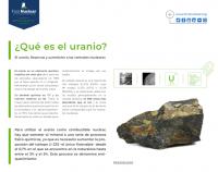 El uranio. Reservas y suministro a las centrales nucleares
