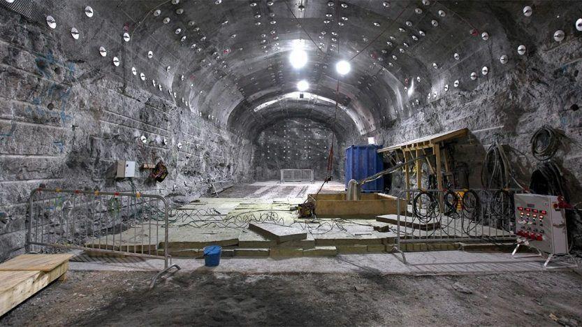 La instalación ONKALO en construcción. Foto: Posiva Oy