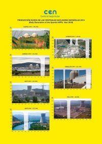 Producción diaria de las centrales nucleares españolas 2019