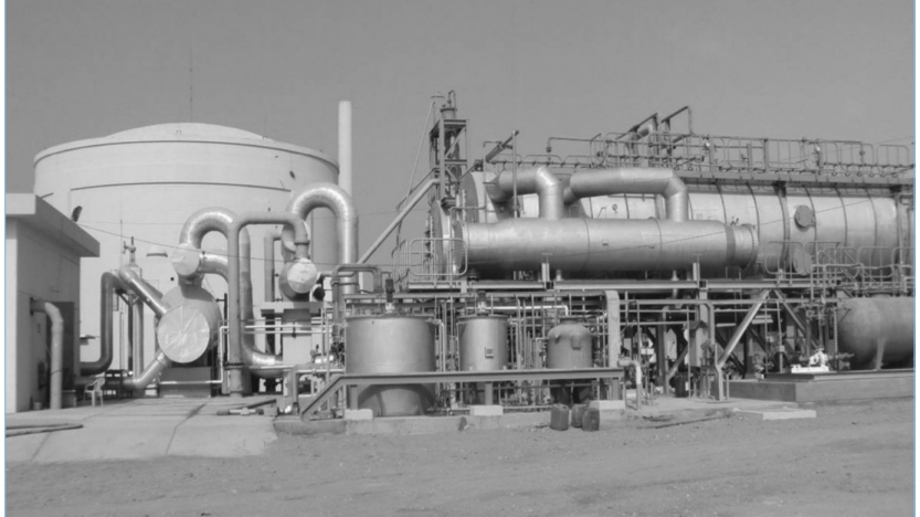 Desalination plant at the Karachi nuclear power plant, by the sea, in Pakistan. Photo: PAEC