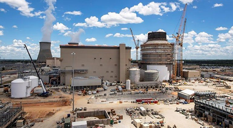The Vogtle AP1000 construction site in July 202
