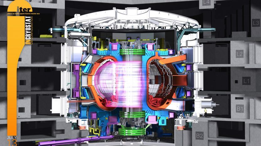 Graphic depiction of the interior of the ITER Project