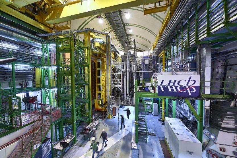 El detector de partículas LHCb