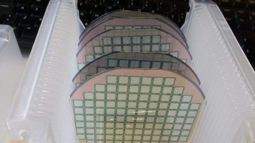 Sensores de silicio del prototipo para la detección de gas radón en edificaciones. Foto: IMB-CNM-CSIC